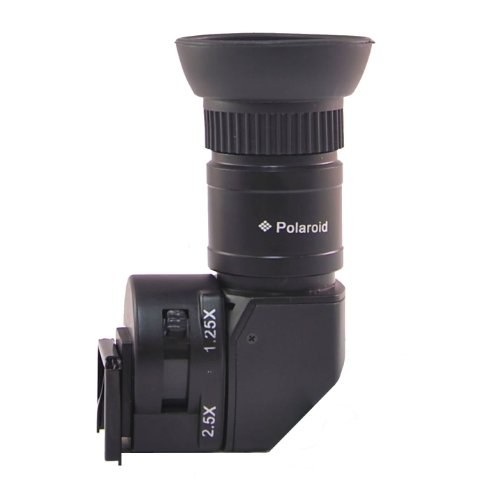 Polaroid 1X-2.5X Right Angle Viewfinder For The Sony Alpha Nex-C3, 7, 6, 5N, 5R, 5T, 5, 3, 3N, F3, Slt-A33, A35, A37, A55, A57, A58, A65, A77, A99, Dslr A100, A200, A230, A290, A300, A330, A350, A380, A390, A450, A500, A560, A550, A700, A850, A900, A7, A7