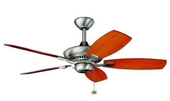 Kichler Lighting 300107NI Canfield 44-Inch Ceiling Fan with Reversible Marive Cherry/Maple Blade, Brushed Nickel