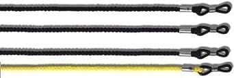 """4 PACK - 3 x noir 1 x jaune - LOURD DEVOIR Cordon universel de luenttes pour les spectacles & Lunettes de soleil 23"""" - Unisexe"""