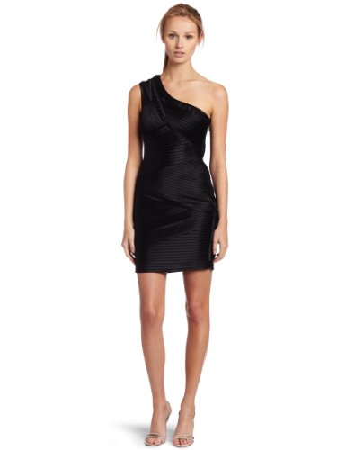 BCBGMAXAZRIA Womens Eden One-shoulder Cocktail Dress