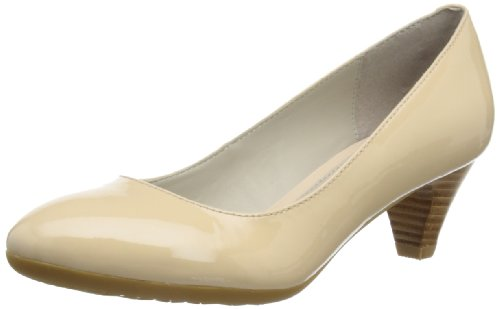 Hush Puppies Sanguin Pump, Scarpe col tacco donna, beige (Beige (Nude Patent Leather)), 37
