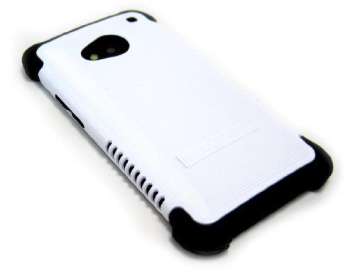 Cell-Nerds Nerdshield Grip Case Cover For The Htc One (Htc M7) - Cell-Nerds Packaging (White On Black)
