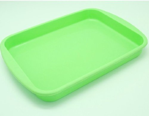 Allforhome 10 Inches Rectangle Tray Nonstick Flexible