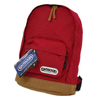 OUTDOOR PRODUCTS カラフルスエード調 デイパック #4052EXPT Red