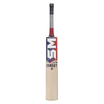 SM Milestone (Combat) Kashmir Willow Cricket Bat, Short Handle