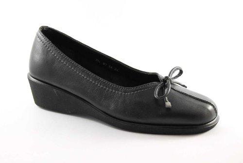 GRUNLAND RENE SC0893 nero scarpe donna ballerine comfort fiocco 39