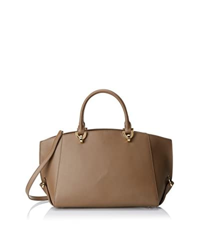 Zac Zac Posen Women's Vachetta Eartha Folded Gusset Satchel Mini, Brown
