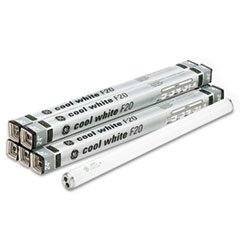 "** 24"" Fluorescent Tubes, 20 Watts, 6/Pack"