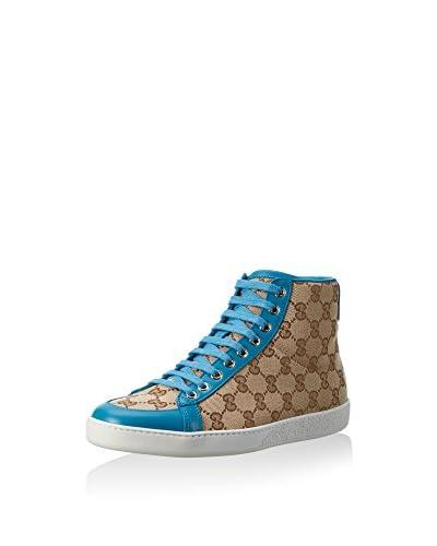 Gucci Zapatillas abotinadas Beige / Azul