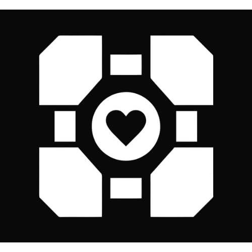 Portal Companion Cube Die Cut Vinyl Decal Sticker   5.75