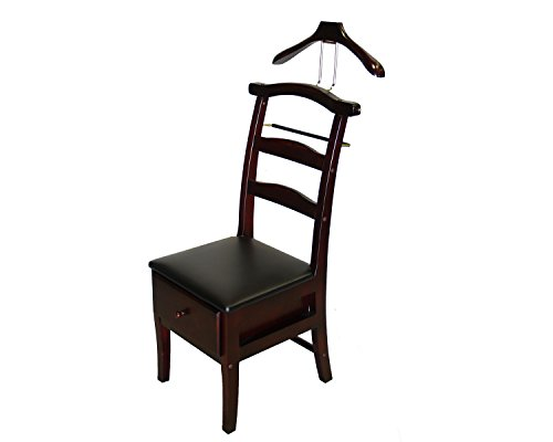 Proman VL16142 Manchester Chair Valet in Dark Mahogany