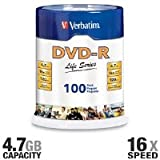 Verbatim 100PK DVD-R 16X 4.7GB 120MIN SUPL SPINDLE LIFE SERIES