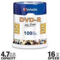 Verbatim Life 97177 DVD Recordable Media - DVD-R - 16x - 4.7