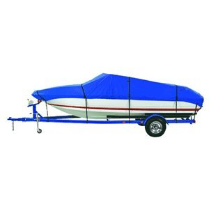 """Dallas Manufacturing Co. Custom Grade Polyester Boat Cover F 17'-19' Center Console Models - Beam Width to 96"""""""