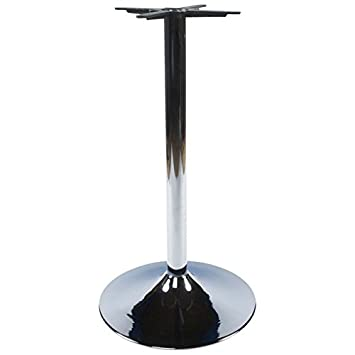 Round table WIND walk without the tray of metal (60cmX60cmX110cm) (chrome)