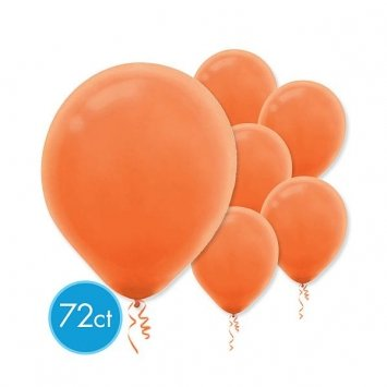 "Amscan Festive Peel Latex Balloons (72 Count), 12"", Orange"