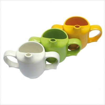 Dignity Ware Green2-Handled Feeder Cup, Set of 6 - 1