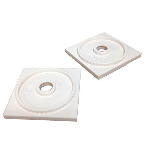 Lego Parts: Turntable 4 x 4 Square Base, Locking (PACK of 2 - White) (Atlantis Vaporizer compare prices)