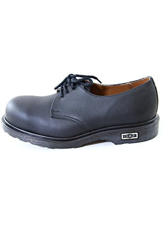 Cult Bolt Vintage Leather Shoes with Steel Toe Black CL2572G8188 (41 EU, Black)