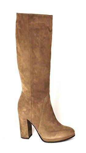 DIVINE FOLLIE 421773 marrone stivale donna tubo pelle zip laterale tacco 39