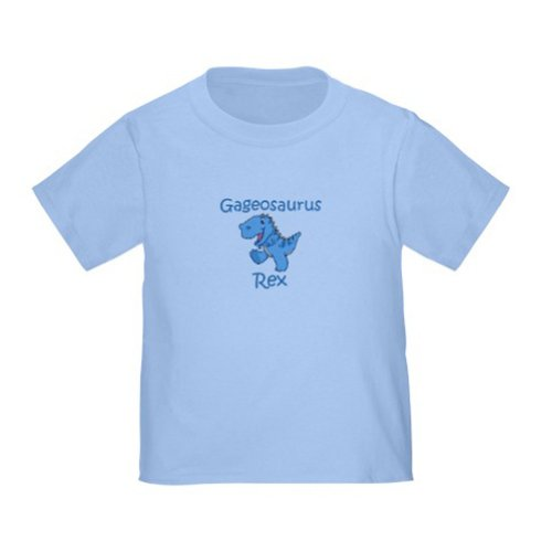 Personalized Gage Gageosaurus Rex Dinosaur Baby Infant Toddler Kids Shirt - Customize With Any Boy Or Girls Name, Christmas Present Custom Gift Collection front-934884