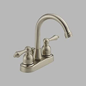 Peerless WAS00X Two Handle Centerset Lavatory Faucet with Drain Assembly, Satin Nickel