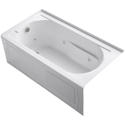 KOHLER K-1357-LA-0 Devonshire 5-Foot Whirlpool, White (Left Blowers compare prices)