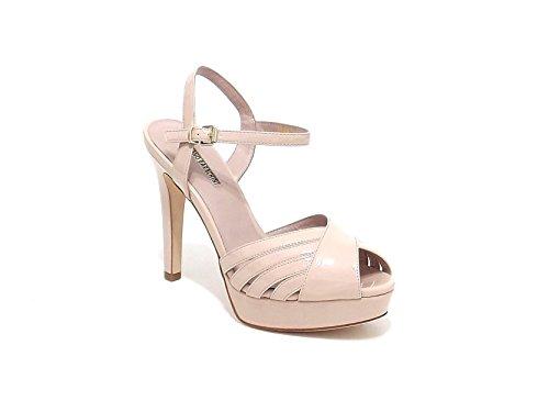 Luciano Barachini scarpa donna, modello sandalo 6284, in vernice, colore nude