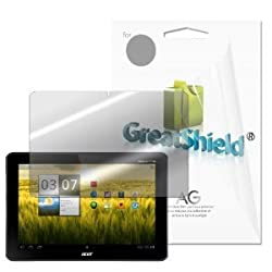 GreatShield Ultra Anti-Glare (Matte) Clear Screen Protector Film for Acer Iconia Tab A200 (3 Pack)