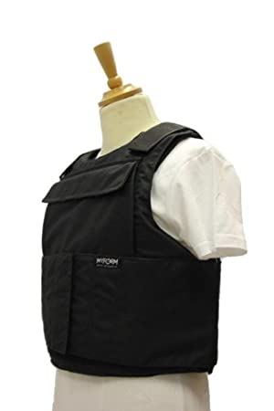 External Vest Chest protector body armor color black size M-XL By Best Security Gear (M)