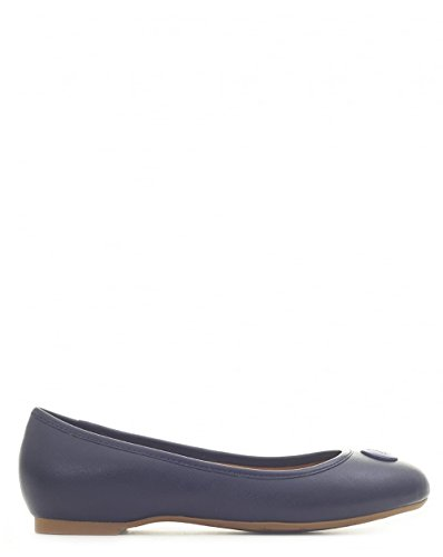 Armani Footwear Saffiano Leather Logo Pumps BLUE 7