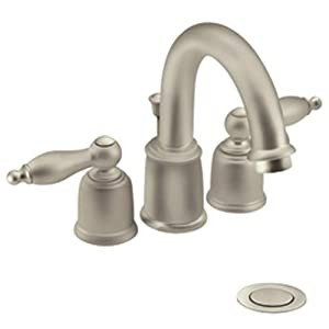 Moen Castleby 2h Hi Arc 4 Bath Satine Satine T4945stst Touch On Bathroom Sink Faucets