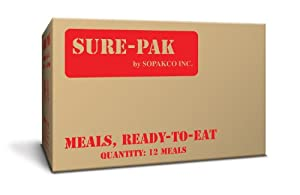Sure-Pak MRE Meal Case Packs With Flameless Ration Heater-Pack Of 12 by Sure Pak