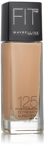 Maybelline New York Fit Me! Foundation, 125 Nude Beige, SPF 18, 1.0 Fluid Ounce (Packaging may vary)