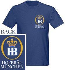 Hofbrau Munchen HB Logo Navy T-Shirt from Hofbrauhaus