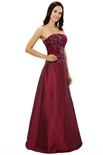 Menglu Women S Applique Formal Zipper Long Prom Satin Plus