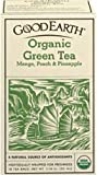 GOOD EARTH TEAS Organic Green Tea Mango, Peach, Pineapple 18 bags