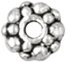 Blue Moon Metal Spacer Beads-Silver Rondelle 24Pk - Blue Moon Metal Spacer Beads-Silver Rondelle 24P