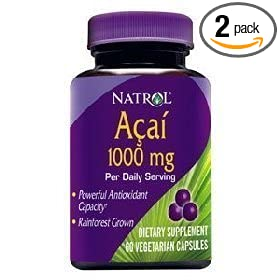 Natrol Acai 1000 mg Capsules, 60-Count Bottle