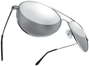 RealGLASS Aviator Classic 70s Style Mirror Lens Sunglasses Best Quality Gift Mirrored Glass Lenses