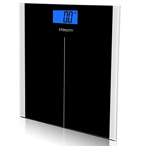 Etekcity Digital Body Weight Scale with Step-On Technology, 400 Pounds, Elegant Black