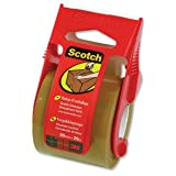 Scotch Packaging Tape Classic Quality in Dispenser for 10kg and Over 50mmx20m Buff Ref C5020D (C5020D)by Scotch