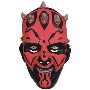 Darth Maul Mask Costume Accessory Adult Mens Star Wars 1/2 Mask Halloween (Darth Maul Face Paint)