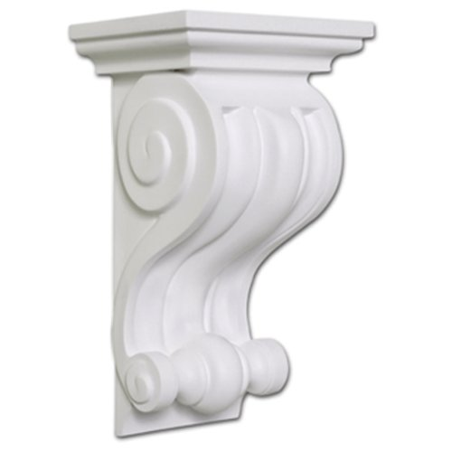 Focal Point 39420 Lexington Corbel 5 3/16-Inch by 8 5/8-Inch by 3 11/16-Inch, Primed White