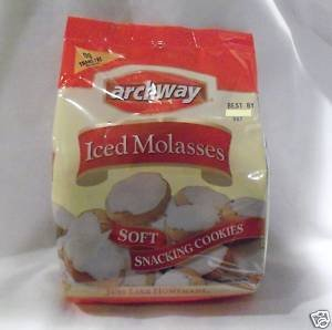Archway Home Style Iced Molasses Soft Cookies 4 bags/14 oz each (Iced Molasses Cookies compare prices)