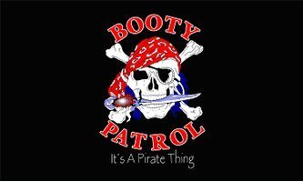 New 3X5 Booty Patrol Pirate Flag Skull & Dagger Banner