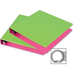Samsill 1.5-Inch 2-Tone View Binder, Lime/Berry, Pack of 2 (U58946)