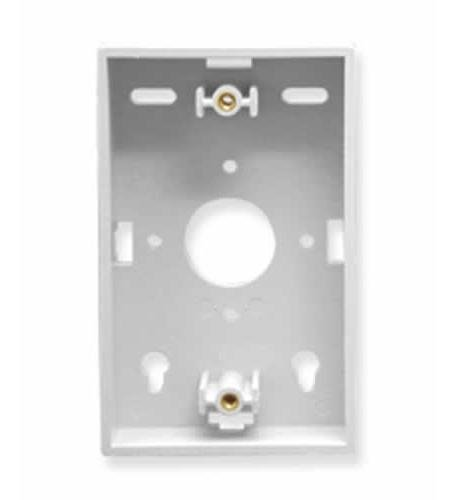Mounting Box- Low-Profile- 1-Gang White (Low Profile Wall Box compare prices)