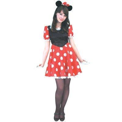 【ディズニー大人用レディースコスチューム】ハロウイン衣装 ミニーマウス802050 イベント・コスプレ・ハロウィン・衣装・学園祭・文化祭・結婚式二次会・宴会に