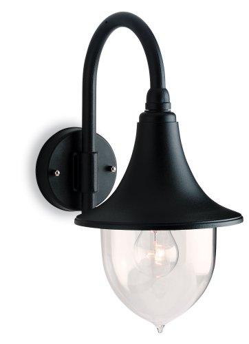 Firstlight 8757BK E27 IP43 1 x 60 Watt Station Lantern Downlight, Black